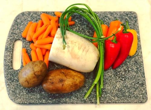Wash and prep veggies