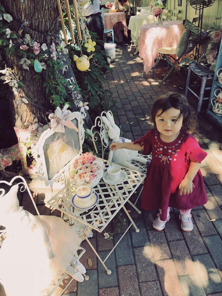 Garden party setting