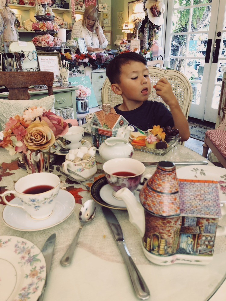 Afternoon tea with the family